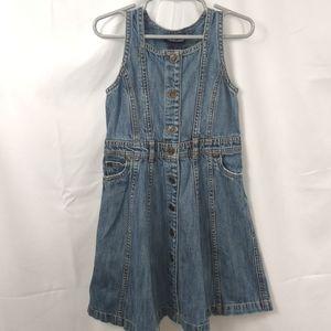 Ralph Lauren Girl's Button Front Denim Dress Sz 5